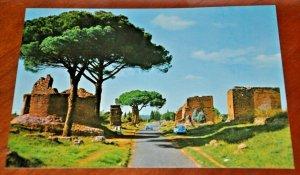 Via appia antica street Appian Way Rome Roma Italy Postcard fotocolor Kodak 234