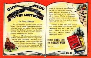 Texas Post Card Storiettes Gun Feud To The Last Man By Oren Arnold Curteich