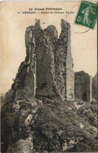 CPA CROZANT Ruines du Chateau Feodal - Le Chapitre (1144271)