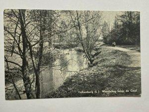 POSTED  1911  VINTAGE POSTCARD - VALKENBURG WANDELING GEUL  (KK1678)