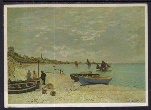 Beach at Ste-Adresse,Monet Painting BIN