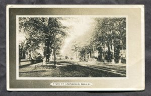 5357 - SPRINGFIELD Mass 1911 State Street Real Photo Postcard