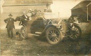 Gilman Illinois Large Auto Proud Owner License 32122 1912 Photo Postcard 5922