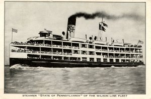 Wilson Line - SS State of Pennsylvania on the Delaware River