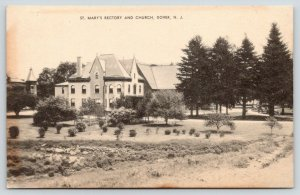 Dover New Jersey~St Mary's Rectory & Church~Beautiful Grounds~1930s