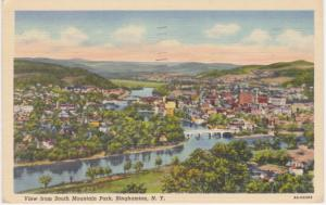The View from South Mountain Park - Binghamton NY, New York - pm 1945 - Linen