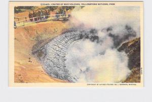 VINTAGE POSTCARD NATIONAL STATE PARK YELLOWSTONE CRATER OF MUD VOLCANO #4