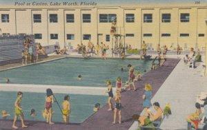 LAKE WORTH, Florida, 1953; Pool at Casino