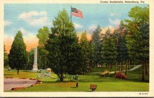 Virginia Petersburg Crater Battlefield 1942 Curteich