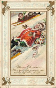 Merry Christmas - May you slip joyously - Santa Claus Funny 03.93