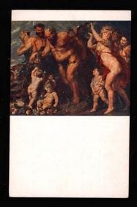 019923 FAUN & NUDE Nymphes Vacchanalia by RUBENS Vintage PC