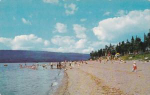 Beach at Bowater Park, South Brook, Newfoundland, Canada, 40-60s