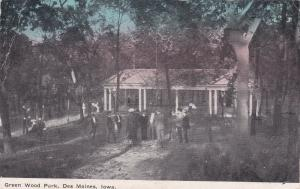 DES MOINES ,  Iowa, PU-1910 ; Green Wood Park