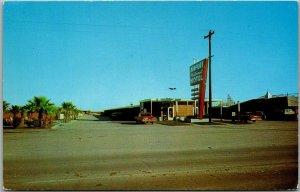 Houston, Texas Postcard AIRPORT NATIONAL MOTEL Street View Roadside c1960s