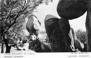 1950s Mount Lemmon Saguaro Pines Tucson Arizona RPPC real photo 10131
