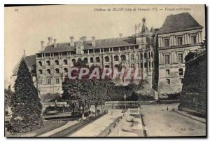 Old Postcard Chateau de Blois wing of Francis I Facade Exterior
