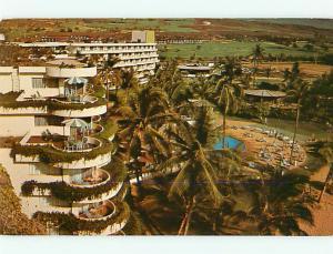 Sheraton Maui Hotel Motel Kaanapali Maui Swimming Pool Palm Tree Postcard # 8545