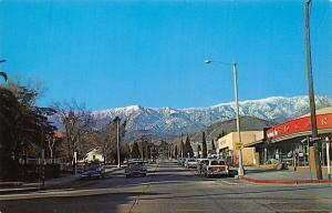 Banning California~Main Street~School Zone~Corner 5&10~Art Deco Store~1950s Cars