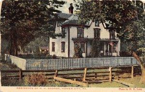 G9/ Homer City Pennsylvania Postcard c1910 Residence W.H. George