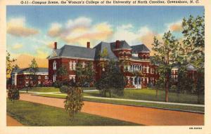 Greensboro North Carolina University Womens College Antique Postcard K86501