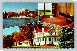 Lansdown Ont- Ontario, Glen House Motel Advertising Tourist Spot Chrome Postcard