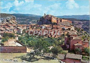 Postcard Modern Alquezar Huesca General view at the collegiate background