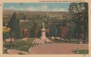 GETTYSBURG , Pennsylvania, 30-40s; The Battlefield from Little Round Top