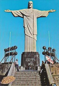 Christ Redemer On Corcovado Hill Rio De Janeiro Brazil