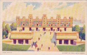 Chicago World's Fair 1933 Nunnery Of Uxmal Maya Temple