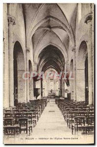 Old Postcard Melun Interior of the Church of Our Lady