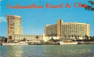 P4319 usa florida miami beach fontainebleu resort club ships palmtrees