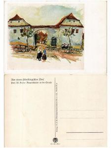 CPA Prof. W. Buche Bauernhauser an der Strasse. ROMANIA (503813)