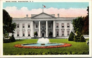 Vtg 1920s White House  Washington DC Unused Postcard
