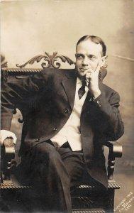G24/ Ottumwa Iowa RPPC Postcard 1908 Billie Sunday Chair