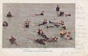GREAT SALT LAKE, Utah, PU-1905; People Floating On The Great Salt Lake