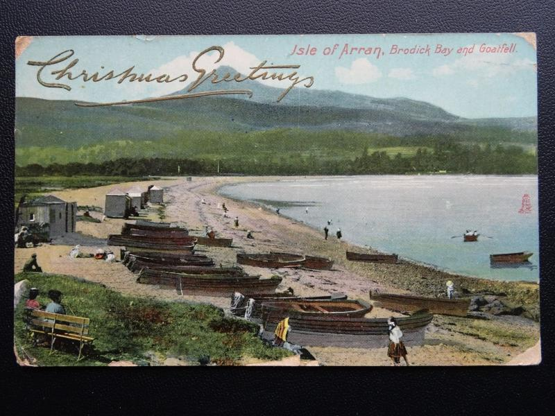 Scotland ISLE OF ARRAN Brodick Bay CHRISTMAS c1907 Postcard by Raphael Tuck 8001