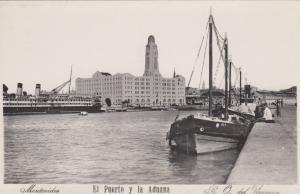 RP, Oceanliner/Boats, El Puerto Y La Aduana, Montevideo, Uruguay, 1920-1940s