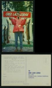 Cree Lake lodge Fishing advertising PC circa 1960+/-