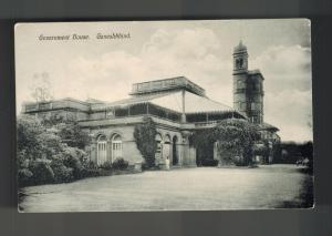 Mint India BW RPPC Postcard Government House Ganeshkhind