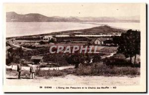 Giens - L & # 39Etang Pesquiers and the Chaine des Maufes - Old Postcard