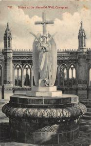 India Cawnpore Statue at The Memorial Well Cross Postcard