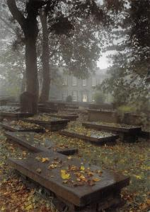 Autumn Day The Bronte Parsonage Museum, Heighley West Yorkshire England