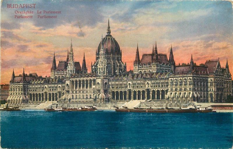 Budapest Parlament Parliament Hungary vintage postcard
