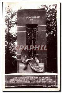 Postcard Old Forest of Compiegne Armistice Glade Morning Monument