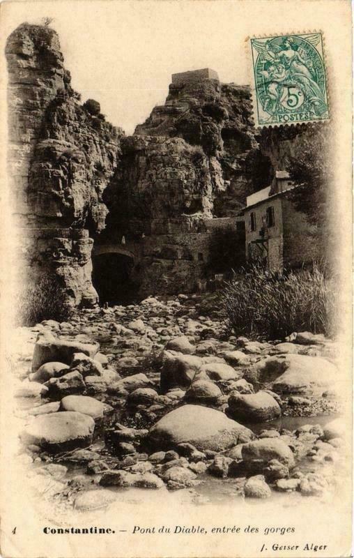 CPA AK Geiser 4 CONSTANTINE - Pont du Diable Entrée des gorges ALGERIA (764435)