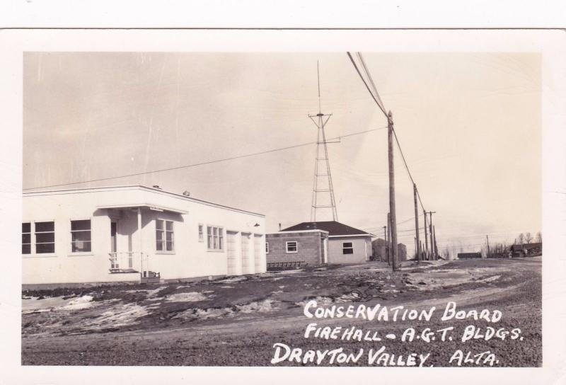 RP; DRAYTON VALLEY, Alberta, Canada, 30-40s; Conservation Board,Fire Hall & AGT