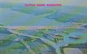 Kansas Tuttle Creek Dam Reservoir and River Pond Area 6 Miles North Of Manhattan