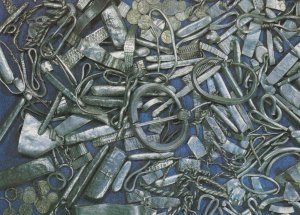 Lancashire Silver Hoard Of Treasure 10th Century River Ribble Postcard