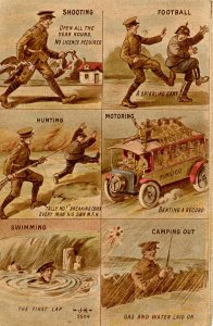Military, WWI - Shooting, Football, Hunting, Motoring, Swimming, Camping   (P...