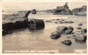F14/ Boiler Bay Oregon RPPC Postcard 1939 Oregon Coast Highway